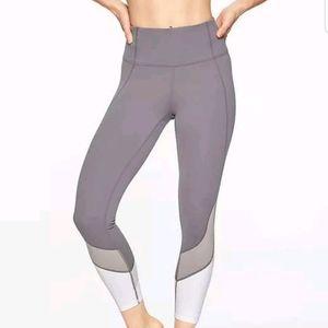 Athleta Powervita colorblock leggings